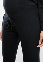 Superbalist - Maternity stretch fleece bottoms - black