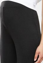 Superbalist - Maternity cuffed rib pants - black