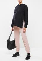 Superbalist - Maternity cuffed rib pants - dusty pink