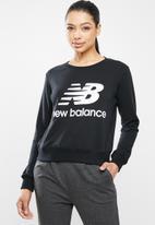 New Balance  - Essential stacked logo crew - black