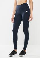 New Balance  - Essential stacked logo leggings - navy