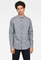 G-Star RAW - Stalt straight fit long sleeve shirt - blue