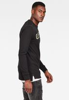 G-Star RAW - G-star graphic long sleeve tee - black