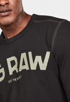 G-Star RAW - G-star graphic long sleeve tee - black