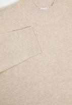 edit Plus - Knitwear basic poloneck(plus) - beige
