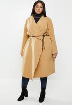 VELVET - Waterfall coat - brown