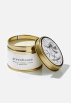 Amanda Jayne - Greenhouse gold travel tin candle