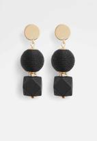 ALDO - Novala earrings - black & gold