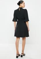 edit - Kitty bow fit & flare dress - black