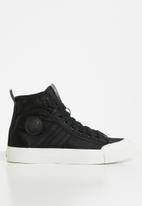 Diesel  - S-astico mid lace w - sneaker mid - black