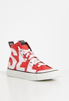 Diesel  - S-astico mc sneaker - fiery red & star white