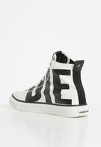 Diesel  - S-astico mc sneaker - star white & black