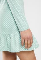 Glamorous - Knitted long sleeve dress - light green