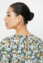 edit - Long sleeve shift dress - multi