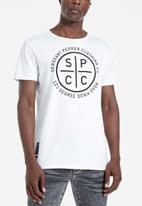 S.P.C.C. - Breton straight hem tee - white