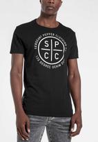 S.P.C.C. - Breton straight hem tee - black