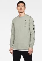 G-Star RAW - Multi arm gr shield long sleeve tee - lt orphus
