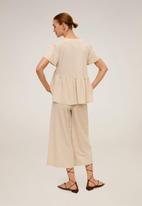 MANGO - Thalia trousers - beige