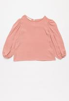 Superbalist Kids - Top with puff sleeve - pink