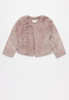 Superbalist Kids - Girls faux fur jacket - mauve