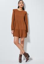 Superbalist - Short babydoll dress - rust