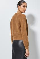 Superbalist - Knit crop cardigan - rust