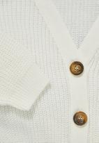 Superbalist - Knit crop cardigan - milk