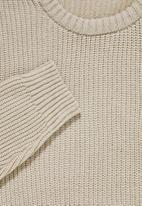 Superbalist - Lofty rib jumper - beige