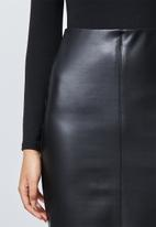 Superbalist - Pu pencil skirt - black