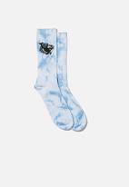 Typo - Tie dye save the whales socks - blue