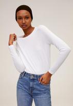 MANGO - Riboman T-shirt - white