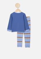 Cotton On - Orlando long sleeve pj set - blue