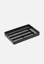 Yamazaki - Tower mesh desk drawer organizer - black