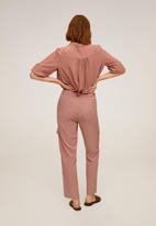 MANGO - Saty trousers - pink