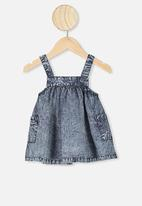 Cotton On - Penny pinafore dress - chambray wash