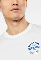 G-Star RAW - Originals logo graphic tee - white