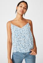Cotton On - Astrid cami bronte ditsy - parisian blue