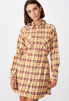 Cotton On - Woven check shirt dress - alexa check bamboo