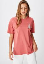 Cotton On - The original graphic tee lcn wb looney tunes logo - faded rose