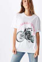 Cotton On - The original graphic tee easy riders - white