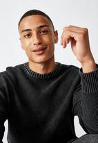 Cotton On - Crew knit - washed black
