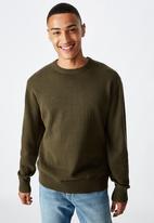 Cotton On - Crew knit - khaki marle