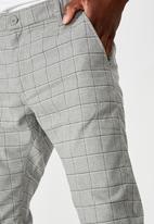 Cotton On - Skinny stretch chino - grey window check