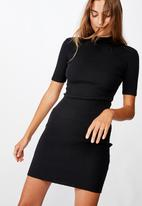 Cotton On - Tahlia true knit mini dress - black