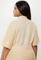 Glamorous - Plus mini dalmation tunic - stone