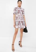 Glamorous - Puff sleeve paisley tunic - multi