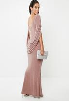 VELVET - Cape back maxi dress - rose tan
