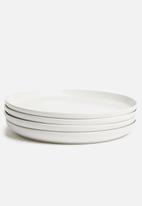 Sixth Floor - Airy dinner plate set of 4 - white