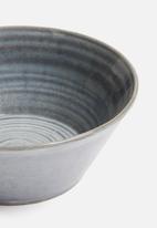 Sixth Floor - Swirl bowl set of 4 - midnight