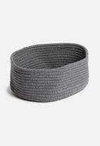 Sixth Floor - Small braided basket - charcoal